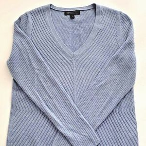 Banana Republic Womens Ribbed Sweater Blue Wool S